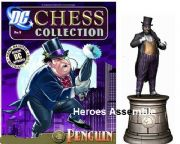 DC Chess Figurine Collection #04 Penguin Black Knight Eaglemoss